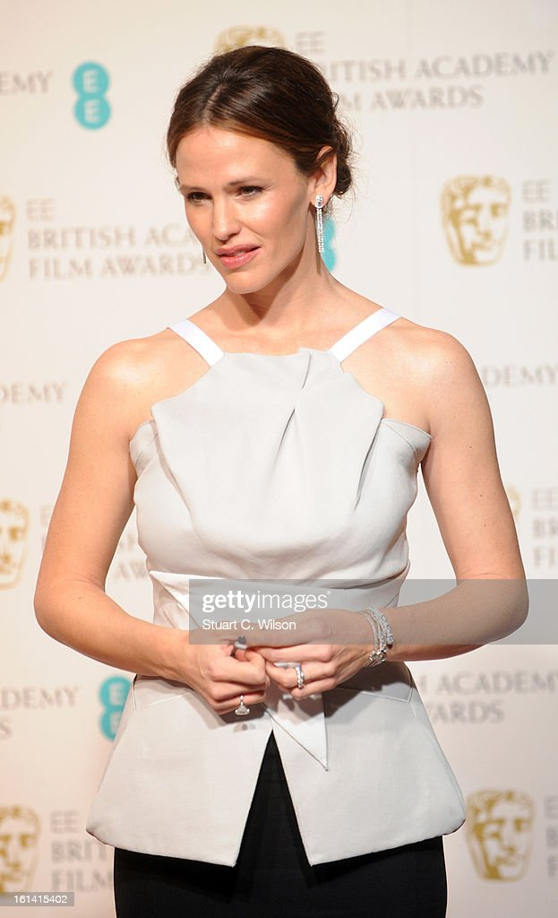 Jennifer Garner poses in the press room at the EE British Academy Film Awards at The Royal Opera House on February 10, 2013 in London, England.