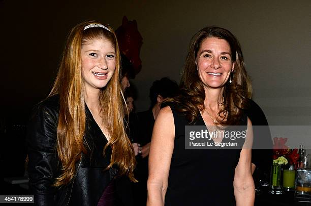 Jennifer Gates and Melinda Gates pose after the Style Competition for Amade at the Gucci Paris Masters 2013 on December 7 2013 in Paris France