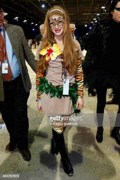 US Jennifer Gates daughter of Bill Gates poses during the Style and Competition for Amade charity costumed event of the Paris Masters equestrian...