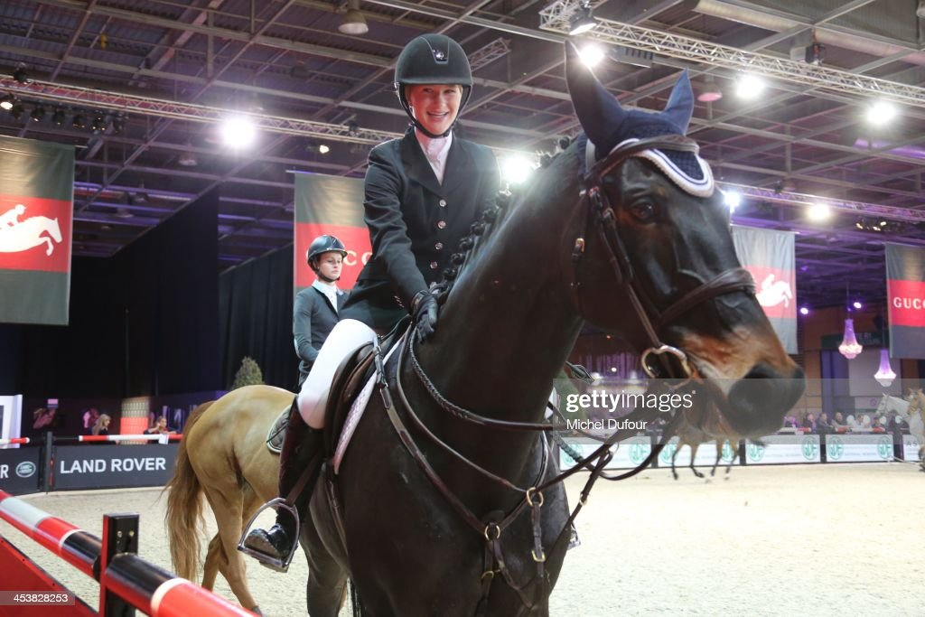 Jennifer Gates rides Cadence while the Gucci Paris Masters 2013 - Day 1 at Paris Nord Villepinte on December 5, 2013 in Paris, France.