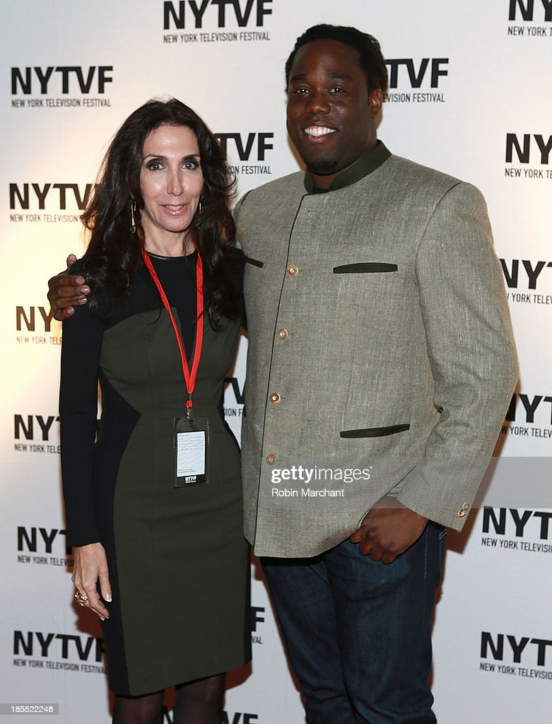 Jennifer Gelfer (L) and Quincy Morris attend 'In Between Men' Series Screening - 9th Annual New York Television Festival at Tribeca Cinemas on October 21, 2013 in New York City.