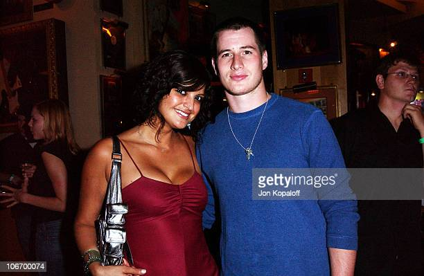 Jennifer Gimenez Brendan Fehr during World Premiere Of 'The Battle Of Shaker Heights' After Party at Hard Rock Restaurant in Universal City...