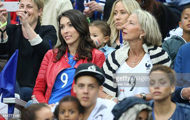 Jennifer Giroud attends the UEFA Euro 2016 quarter final match between France and Iceland at Stade de France on July 3 2016 in SaintDenis near Paris...