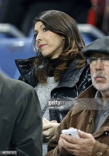 Jennifer Giroud wife of Olivier Giroud attends the international friendly match between France and Germany at Stade de France on November 13 2015 in...
