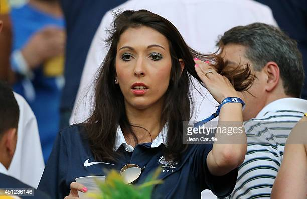 Jennifer Giroud wife of Olivier Giroud of France attends the 2014 FIFA World Cup Brazil Group E match between Ecuador and France at Maracana on June...