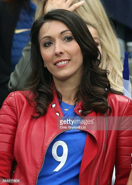 Jennifer Giroud wife of Olivier Giroud of France looks on during the UEFA Euro 2016 Quarter Final match between France and Iceland at Stade de France...