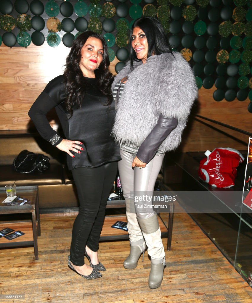 Jennifer Graziano and Angela 'Big Ang' Raiola attend'Mob Wives' Season 4 premiere at Greenhouse on December 5 2013 in New York City