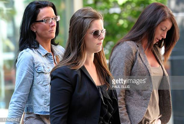Jennifer Green arrives at Manchester Magistrates Court in Manchester northwest England on June 20 2011 Three people have appeared in court today...