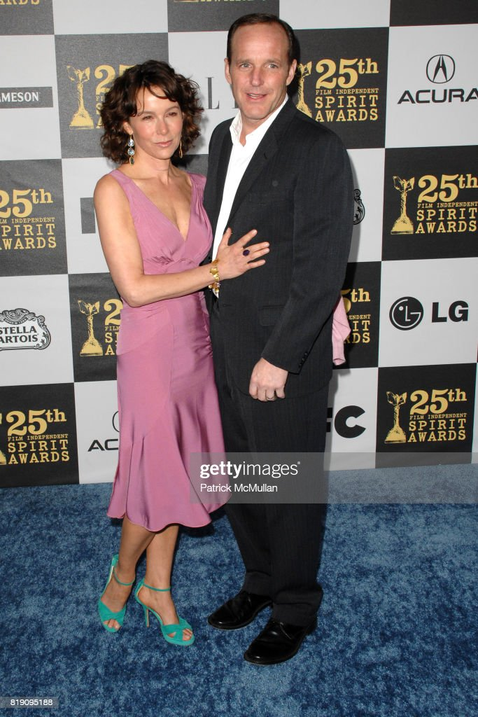 Jennifer Grey and Clark Gregg attend The 25th INDEPENDENT SPIRIT AWARDS - ARRIVALS at Nokia Theatre L.A. Live on March 5, 2010 in Los Angeles, California.