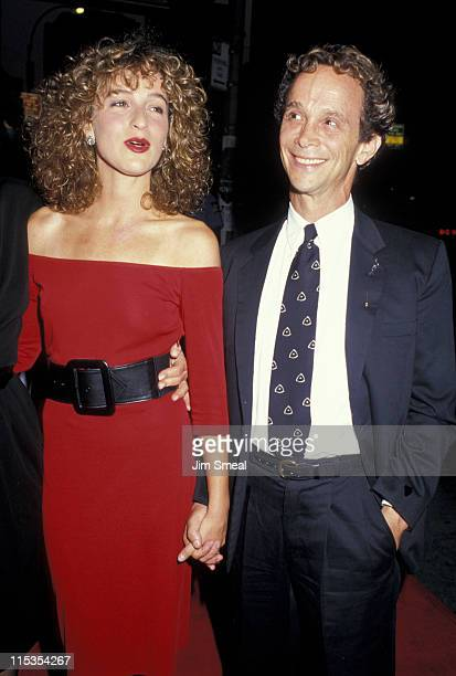 Jennifer Grey and Joel Grey during Premiere of 'Dirty Dancing' at Gemini Theater in New York City New York United States