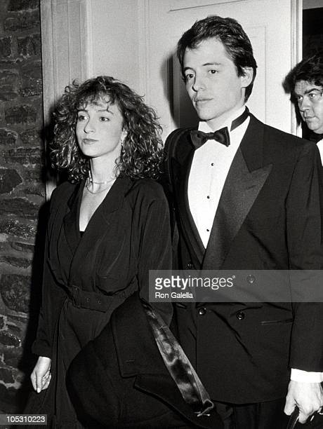 Jennifer Grey and Matthew Broderick during Benefit for The Writer's Theater at Abigail Adams Smith Museum in New York City New York United States