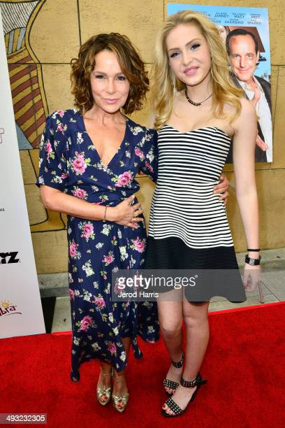 Jennifer Grey and Saxon Sharbino arrive at the Los Angeles Premiere of 'Trust Me' at the Egyptian Theatre on May 22 2014 in Hollywood California
