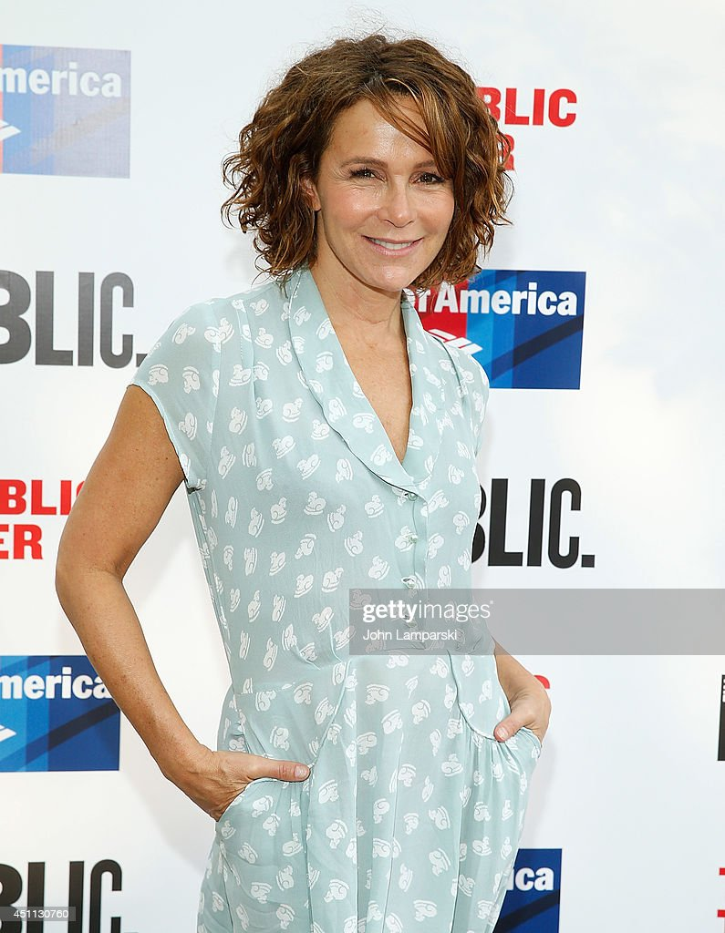 <a gi-track='captionPersonalityLinkClicked' href=/galleries/search?phrase=Jennifer+Grey&family=editorial&specificpeople=220265 ng-click='$event.stopPropagation()'>Jennifer Grey</a> attends the Public Theater's 2014 Gala celebrating 'One Thrilling Combination' on June 23, 2014 in New York, United States.