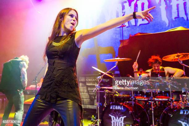Jennifer Haben of Beyond The Black performs at Shepherd's Bush Empire on February 3 2017 in London United Kingdom