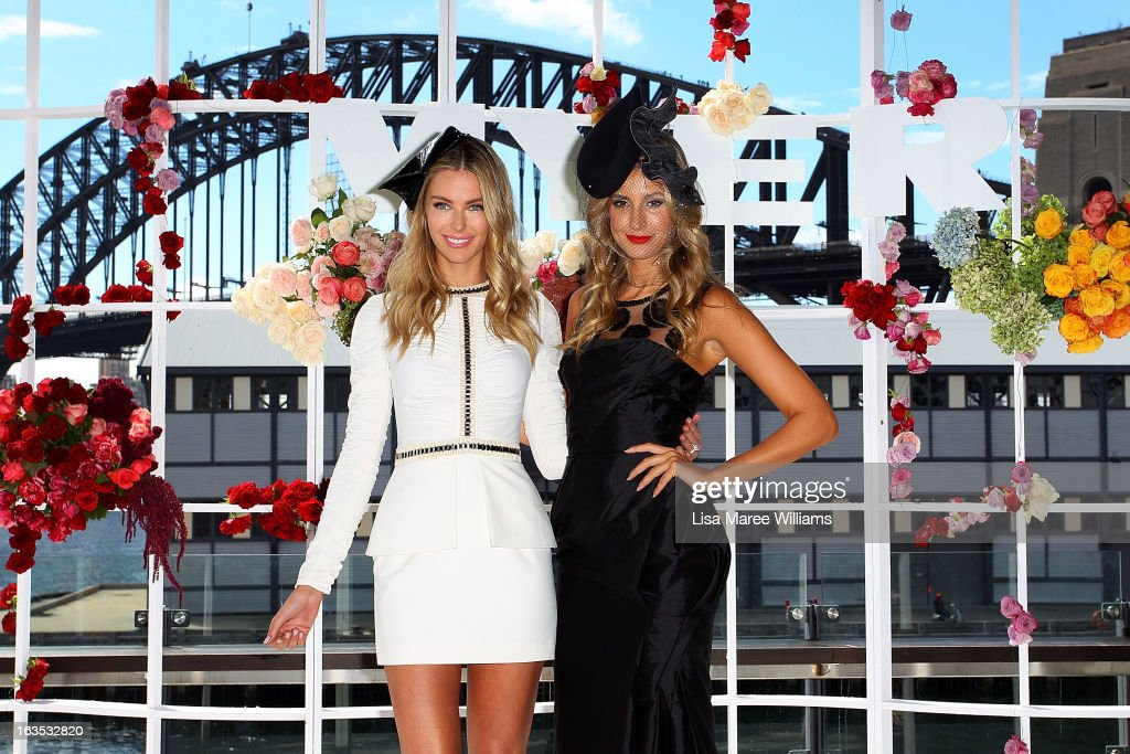 <a gi-track='captionPersonalityLinkClicked' href=/galleries/search?phrase=Jennifer+Hawkins&family=editorial&specificpeople=202875 ng-click='$event.stopPropagation()'>Jennifer Hawkins</a> and <a gi-track='captionPersonalityLinkClicked' href=/galleries/search?phrase=Laura+Dundovic&family=editorial&specificpeople=4206172 ng-click='$event.stopPropagation()'>Laura Dundovic</a> pose at the Myer Autumn/Winter Collection preview at The Bar at the End of the Wharf on March 12, 2013 in Sydney, Australia.