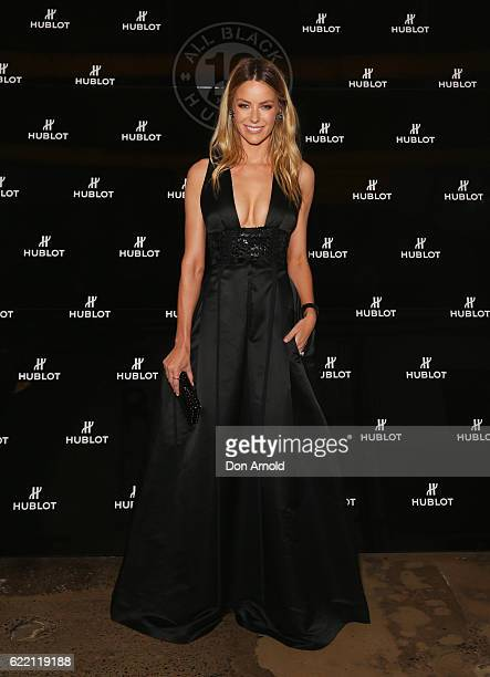 Jennifer Hawkins arrives ahead of the HUBLOT ALL BLACK celebration event at Carriageworks on November 10 2016 in Sydney Australia