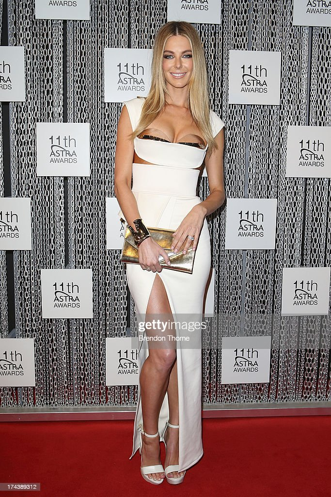 Jennifer Hawkins arrives at the 11th Annual ASTRA Awards at The Sydney Theratre on July 25, 2013 in Sydney, Australia.