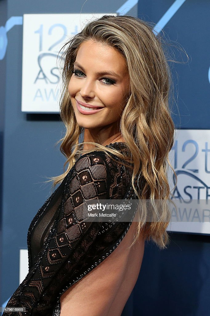 Jennifer Hawkins arrives at the 12th ASTRA Awards at Carriageworks on March 20, 2014 in Sydney, Australia.