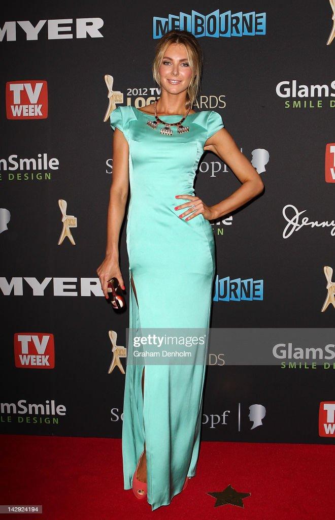 Jennifer Hawkins arrives at the 2012 Logie Awards at the Crown Palladium on April 15, 2012 in Melbourne, Australia.