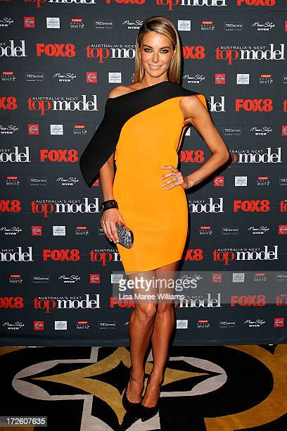 Jennifer Hawkins arrives at the launch of Australia's Next Top Model Season 8 at Doltone House on July 4 2013 in Sydney Australia