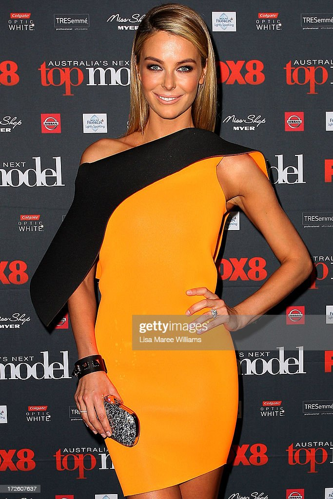 Jennifer Hawkins arrives at the launch of Australia's Next Top Model Season 8 at Doltone House on July 4, 2013 in Sydney, Australia.