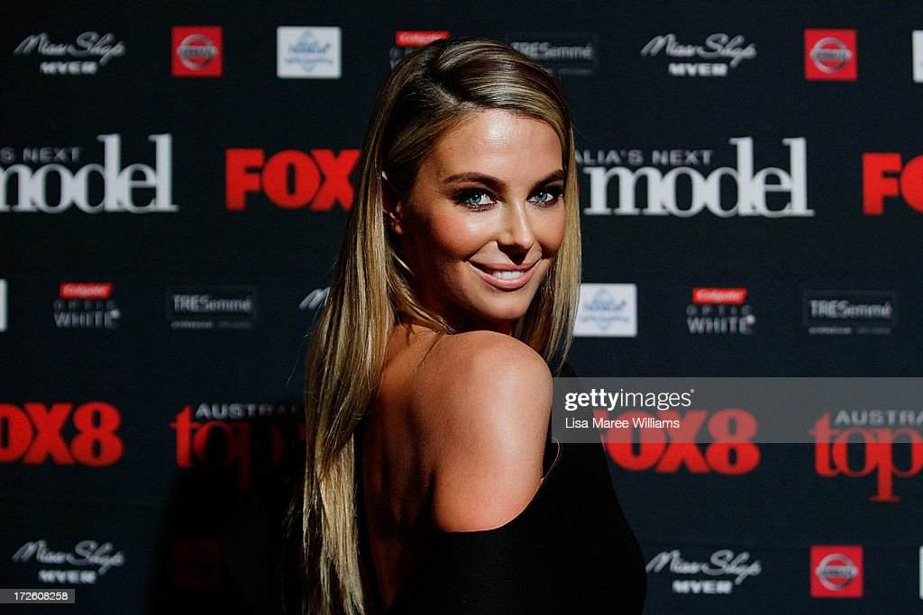 <a gi-track='captionPersonalityLinkClicked' href=/galleries/search?phrase=Jennifer+Hawkins&family=editorial&specificpeople=202875 ng-click='$event.stopPropagation()'>Jennifer Hawkins</a> arrives at the launch of Australia's Next Top Model Season 8 at Doltone House on July 4, 2013 in Sydney, Australia.