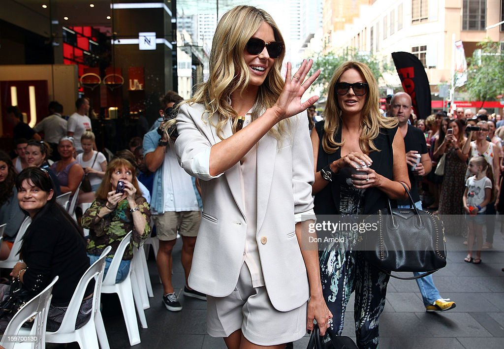 Jennifer Hawkins arrives at the Sydney audition for Season 8 of Australia's Next Top Model on January 19, 2013 in Sydney, Australia.