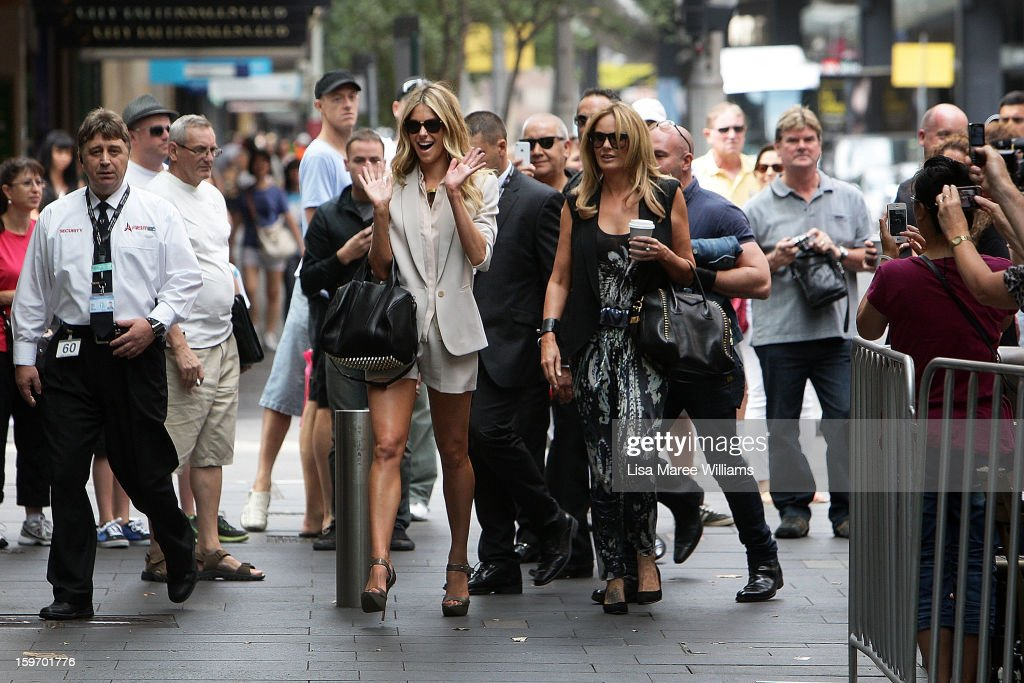 Jennifer Hawkins arrives at the Sydney audition for Season 8 of Australia's Next Top Model at Pitt Street Mall on January 19, 2013 in Sydney, Australia.