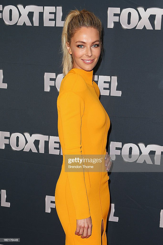Jennifer Hawkins attends the 2013 Foxtel Launch at Fox Studios on February 20, 2013 in Sydney, Australia.