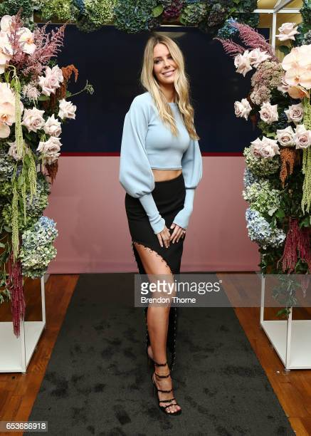 Jennifer Hawkins attends the Myer Fashion Runway show on March 16 2017 in Sydney Australia