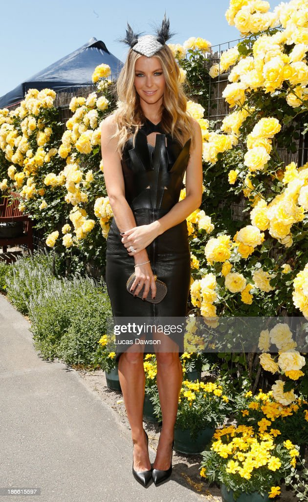 <a gi-track='captionPersonalityLinkClicked' href=/galleries/search?phrase=Jennifer+Hawkins&family=editorial&specificpeople=202875 ng-click='$event.stopPropagation()'>Jennifer Hawkins</a> attends the Myer marquee on Victoria Derby Day at Flemington Racecourse on November 2, 2013 in Melbourne, Australia.