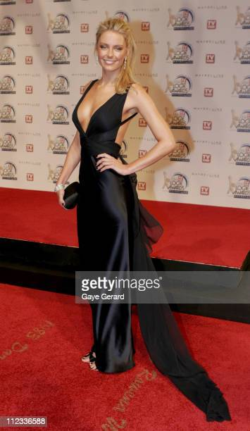 Jennifer Hawkins during 2006 TV Week Logie Awards Arrivals at Crown Casino in Melbourne VIC Australia