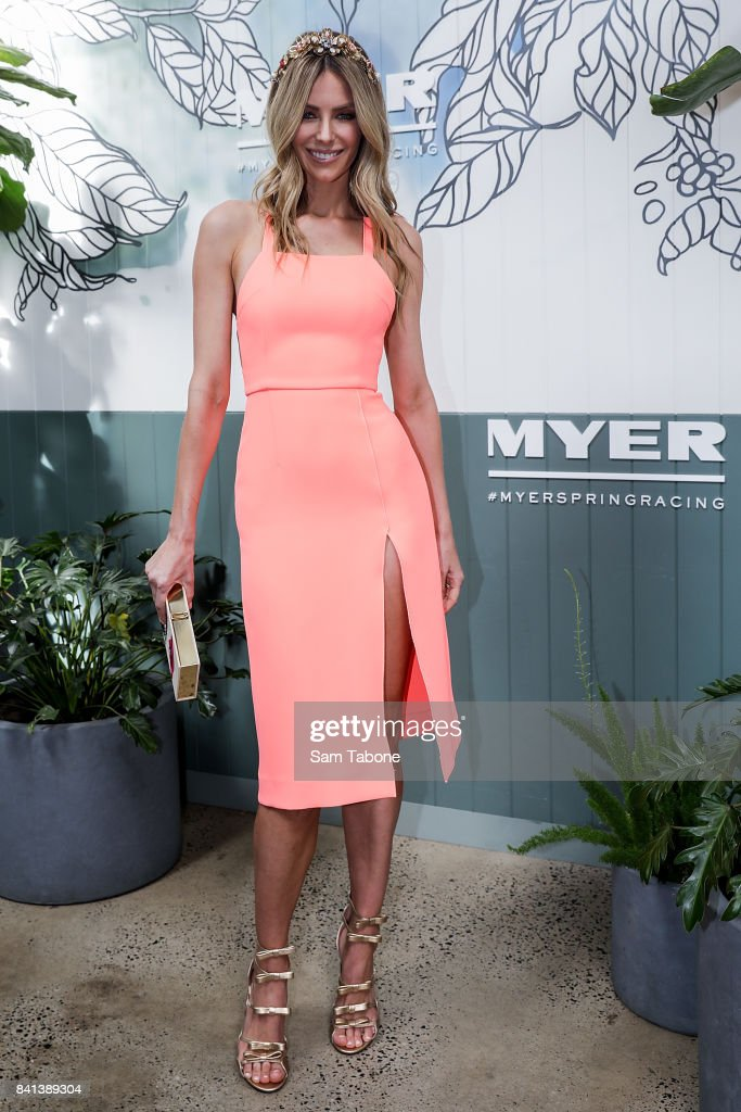 Jennifer Hawkins during the Myer Spring Racing 2017 Collections Launch on September 1, 2017 in Melbourne, Australia.