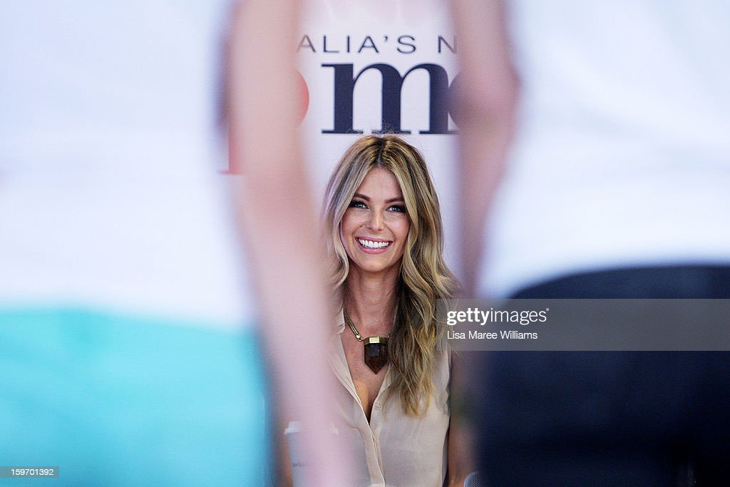 <a gi-track='captionPersonalityLinkClicked' href=/galleries/search?phrase=Jennifer+Hawkins&family=editorial&specificpeople=202875 ng-click='$event.stopPropagation()'>Jennifer Hawkins</a> greets contestants during the Sydney audition for Season 8 of Australia's Next Top Model at Pitt Street Mall on January 19, 2013 in Sydney, Australia.