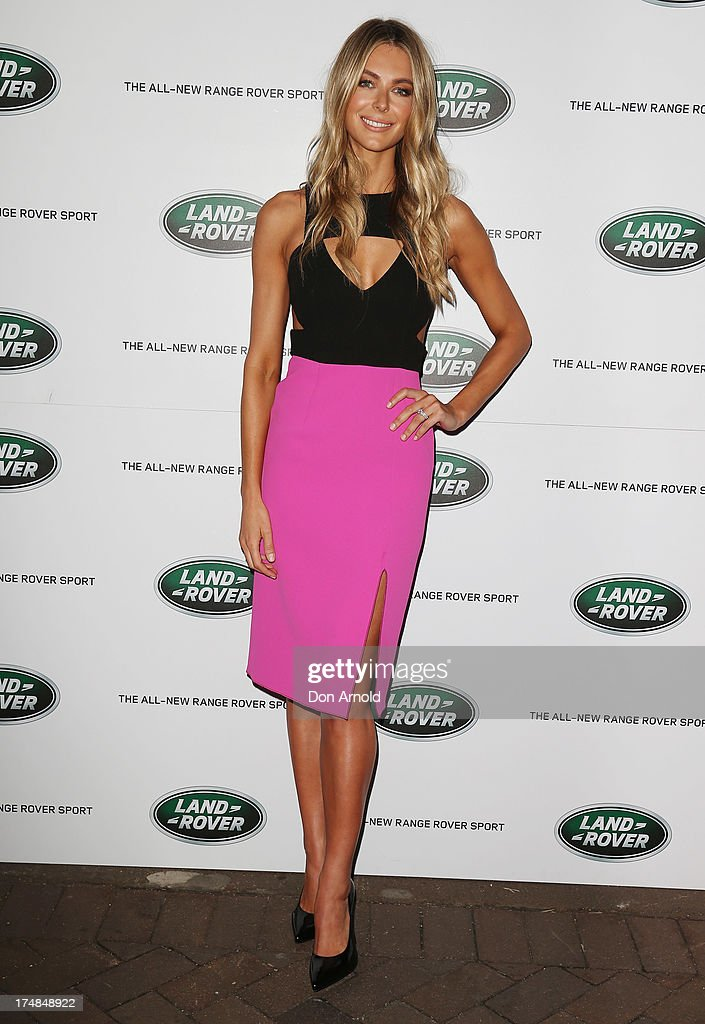Jennifer Hawkins poses at a Range Rover Sport launch event at the Overseas Passenger Terminal on July 29, 2013 in Sydney, Australia.