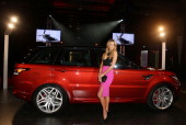 Jennifer Hawkins poses at a Range Rover Sport launch event at the Overseas Passenger Terminal on July 29 2013 in Sydney Australia