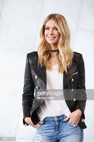 Jennifer Hawkins poses at Australia's Next Top Model Season 10 auditions at The Deakin Edge on September 30 2015 in Melbourne Australia