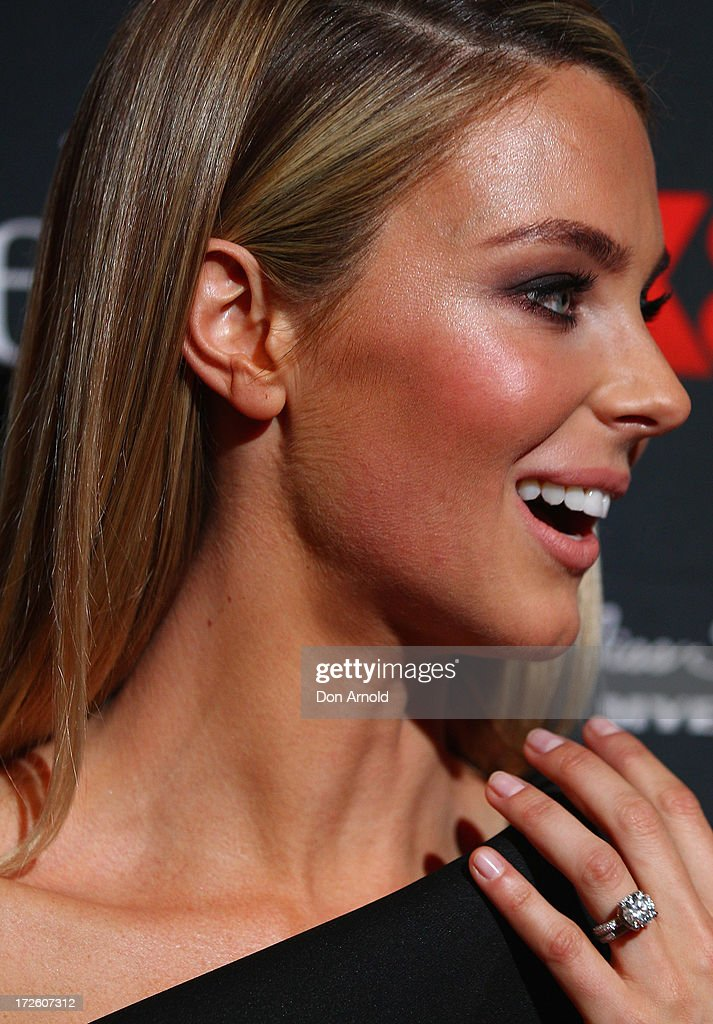 Jennifer Hawkins poses at the launch of Australia's Next Top Model Season 8 at Doltone House on July 4, 2013 in Sydney, Australia.