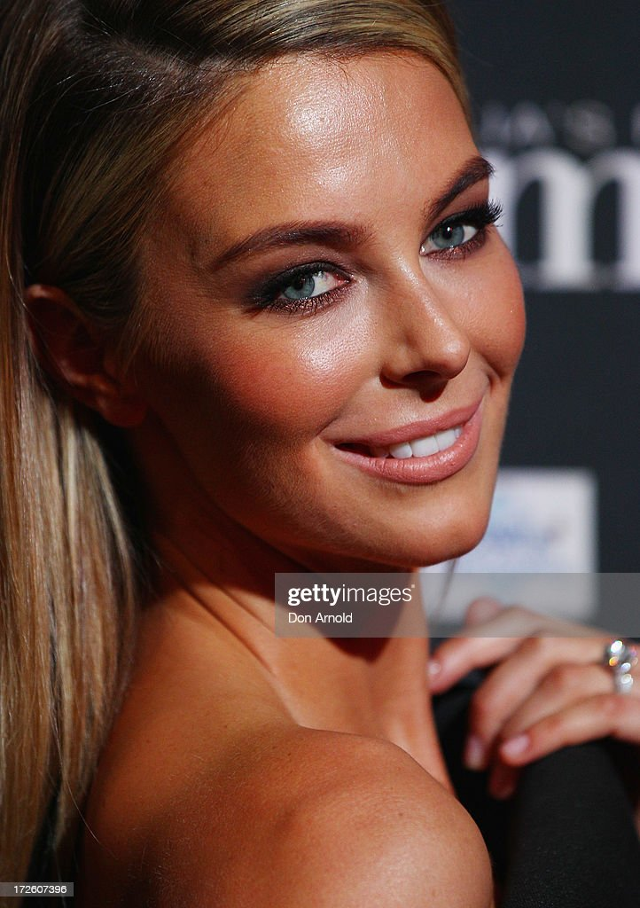 <a gi-track='captionPersonalityLinkClicked' href=/galleries/search?phrase=Jennifer+Hawkins&family=editorial&specificpeople=202875 ng-click='$event.stopPropagation()'>Jennifer Hawkins</a> poses at the launch of Australia's Next Top Model Season 8 at Doltone House on July 4, 2013 in Sydney, Australia.