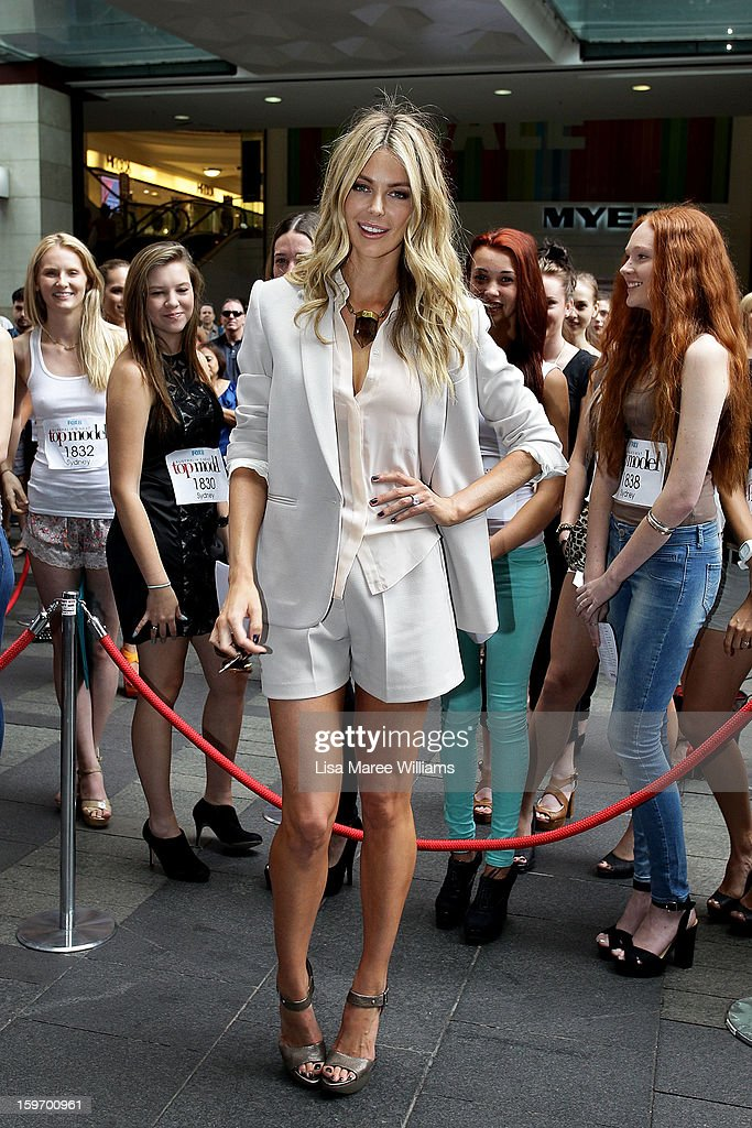 Jennifer Hawkins poses during the Sydney audition for Season 8 of Australia's Next Top Model at Pitt Street Mall on January 19, 2013 in Sydney, Australia.