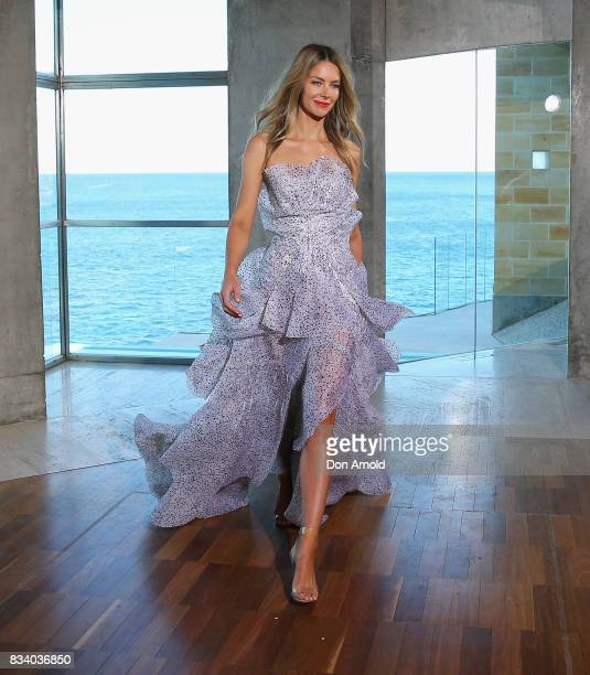 Jennifer Hawkins showcases desgigns at the Myer Spring 2017 Fashion Launch at South Coogee on August 17 2017 in Sydney Australia