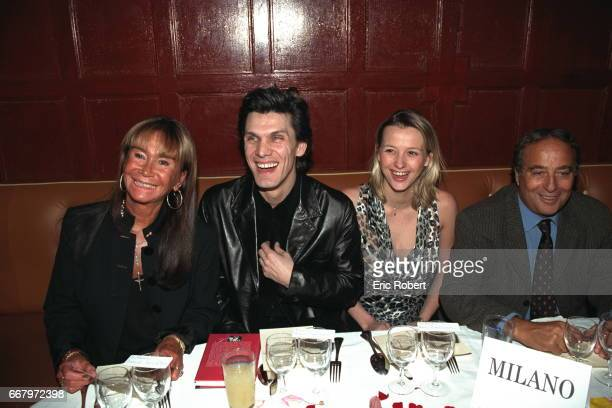 Jennifer Hechter Marc Lavoine his wife Sarah and Daniel Hechter during the evening at the Bains