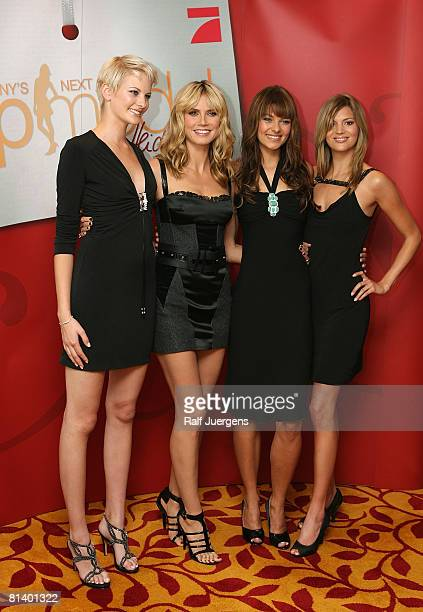 Jennifer Heidi Klum Janina and Christina attend a photocall for PRO7 TV show 'Germanys Next Topmodel' on June 04 2008 at Cologne Germany