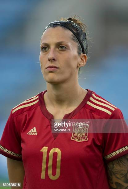 Jennifer Hermoso of Spain during the 2017 Algarve Cup Final between Spain and Canada at the Estadio Algarve on March 08 2017 in Faro Portugal