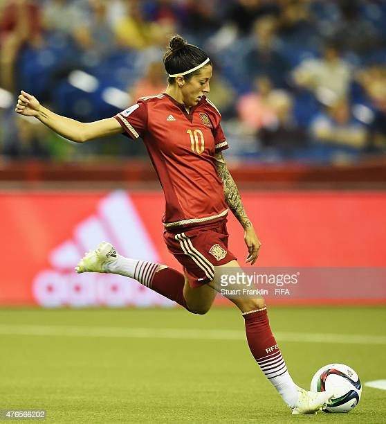 Jennifer Hermoso of Spain in action during the FIFA Women's World Cup 2015 group E match between Spain and Costa Rica at Olympic Stadium on June 9...