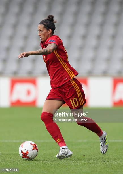 Jennifer Hermoso of Spain in action during the UEFA Women's Euro 2017 Group D match between Spain and Portugal at Stadion De Vijverberg on July 19...