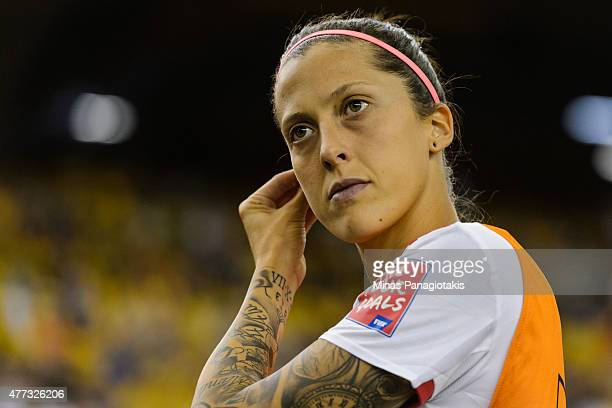 Jennifer Hermoso of Spain takes to the field during the 2015 FIFA Women's World Cup Group E match against Brazil at Olympic Stadium on June 13 2015...