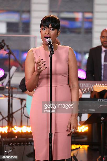 AMERICA Jennifer Hudson and Cynthia Erivo perform live on 'Good Morning America' 11/24/15 airing on the ABC Television Network