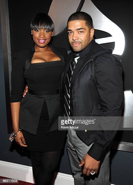 Jennifer Hudson and David Otunga arrives at the 52nd Annual GRAMMY Awards held at Staples Center on January 31 2010 in Los Angeles California