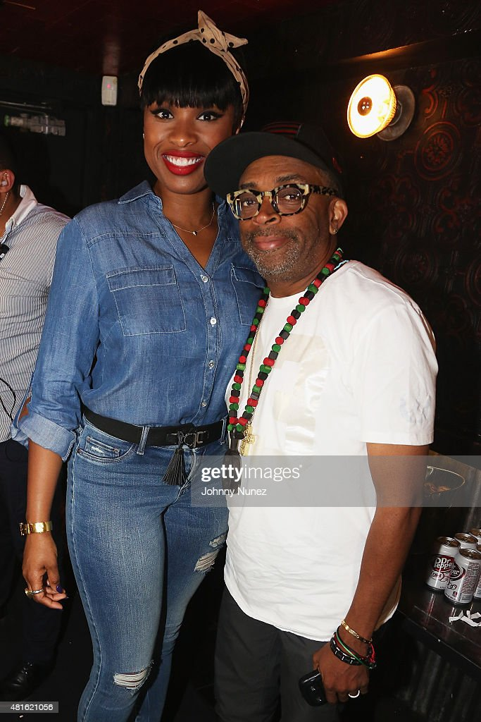 Jennifer Hudson (L) and director Spike Lee attend the #SohoJeansSingOff hosted by New York & Company with Jennifer Hudson at Marquee on July 22, 2015 in New York City.